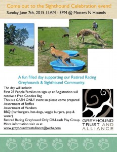 2015 Sighthound Celebration flyer